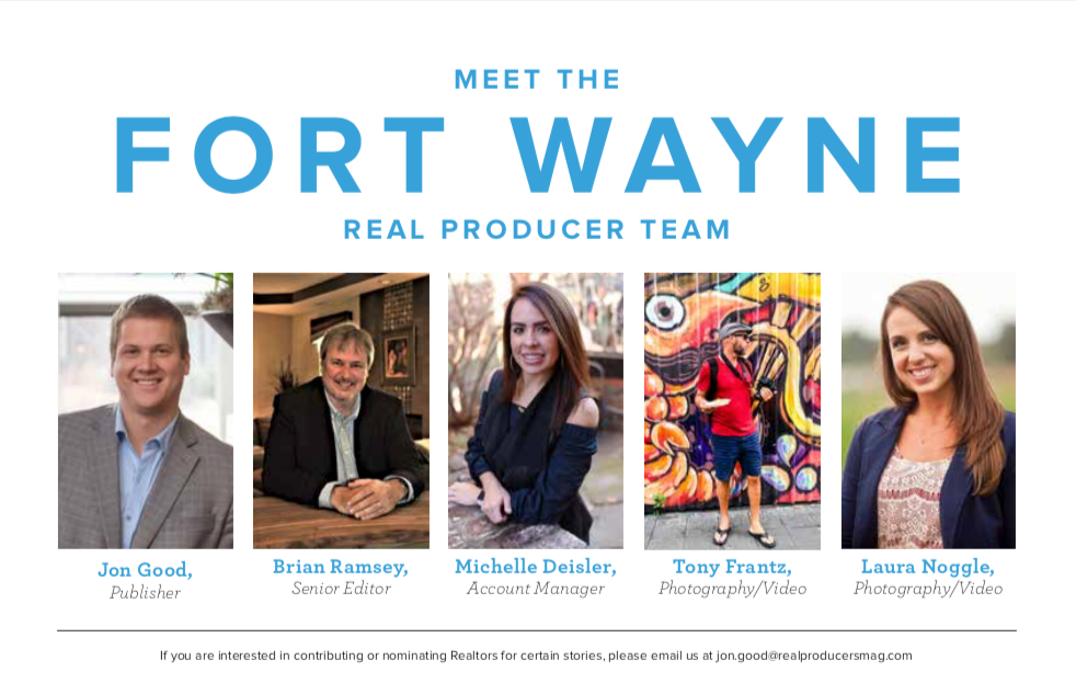 Inside cover of  Real Producers Fort Wayne