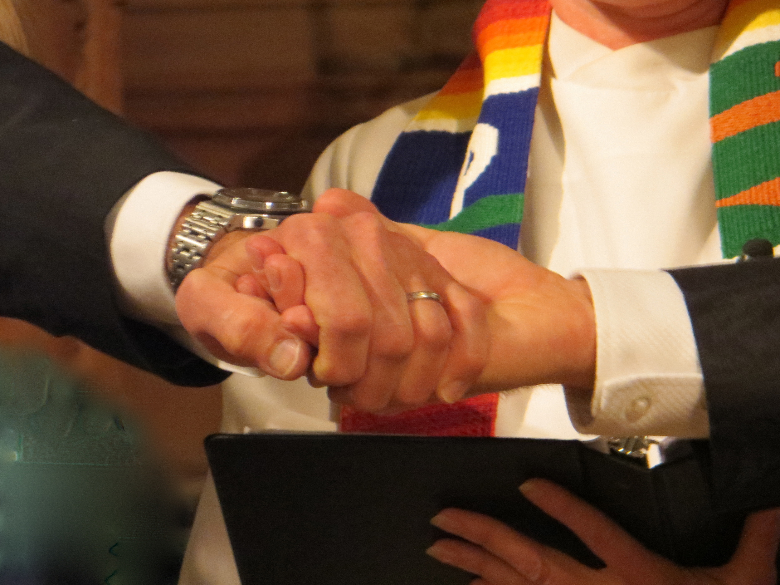 The first same-gender marriage legally performed in Montclair was at the Montclair Wedding Sanctuary at First Congregational Church.