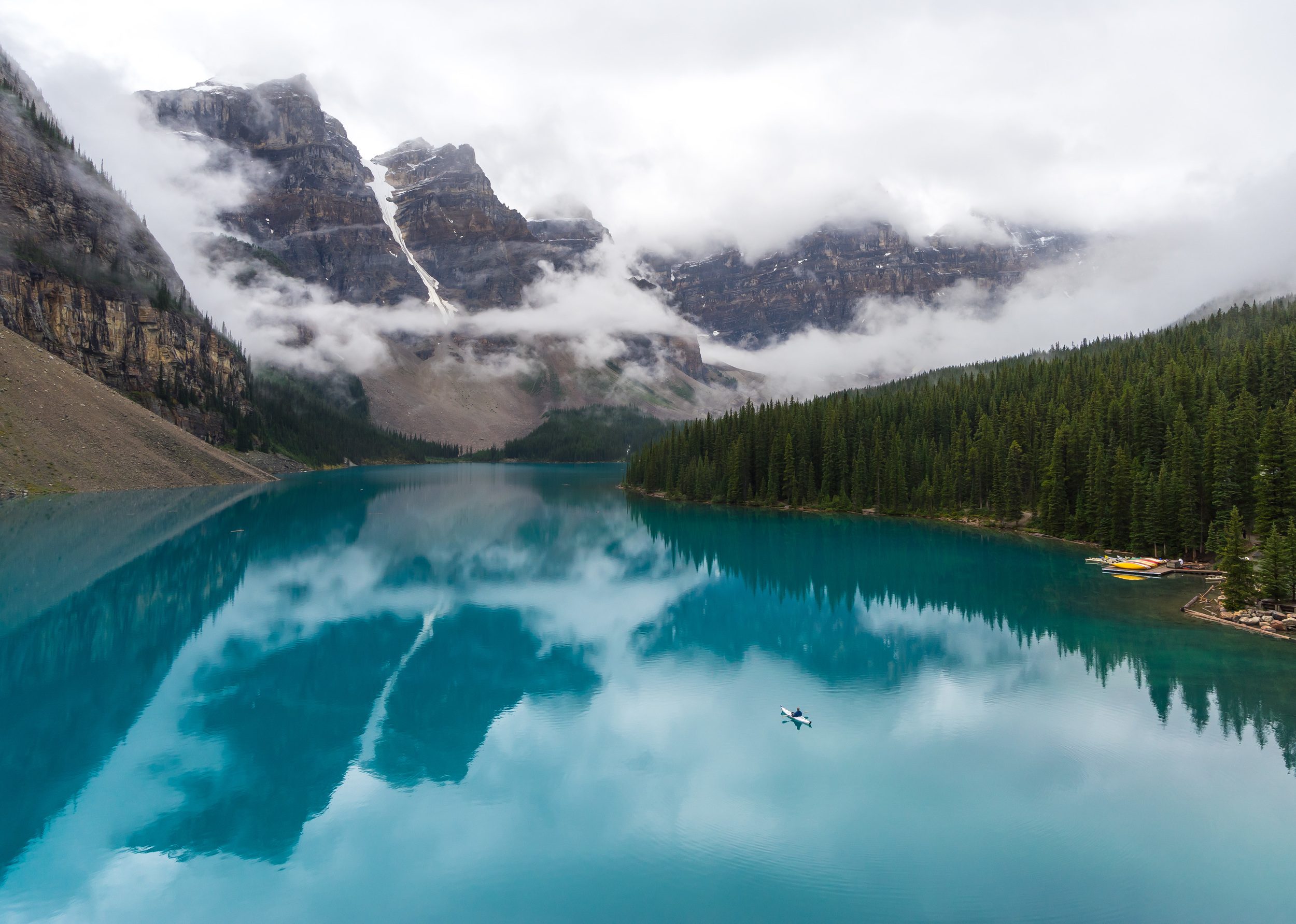 3. Kayaking Moraine Lake: Kayaking on Moraine Lake really allows you to appreciate how grand this lake really is as you get closer to the trademark peaks that tower high above. You'll want to head here early to have it all to yourself.