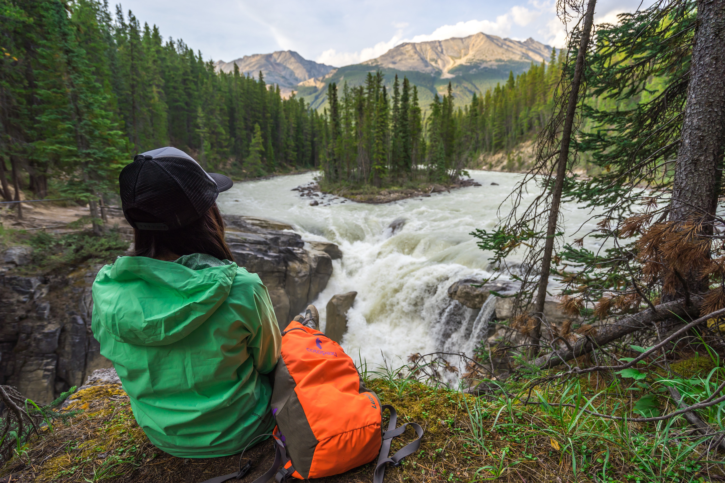 5. Exploring Sunwapta Falls: Mother Nature can leave you speechless sometimes and this is definitely one of those spots. Watching the water rush around the perfectly placed island and crash down the falls just downstream is an experience I'll never forget.