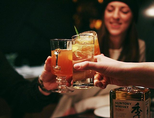 Three cheers to great ramen, good company and $8 @suntorywhisky highballs all night.