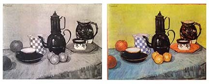 Van Gogh, Still Life: Blue Enamel Coffeepot, Earthenware and Fruit,