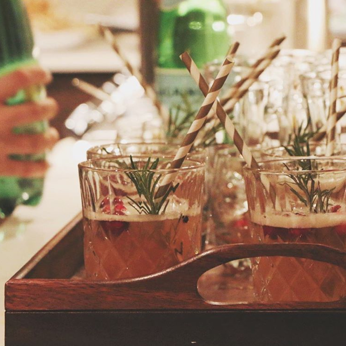 Spiked Herbs Mixing