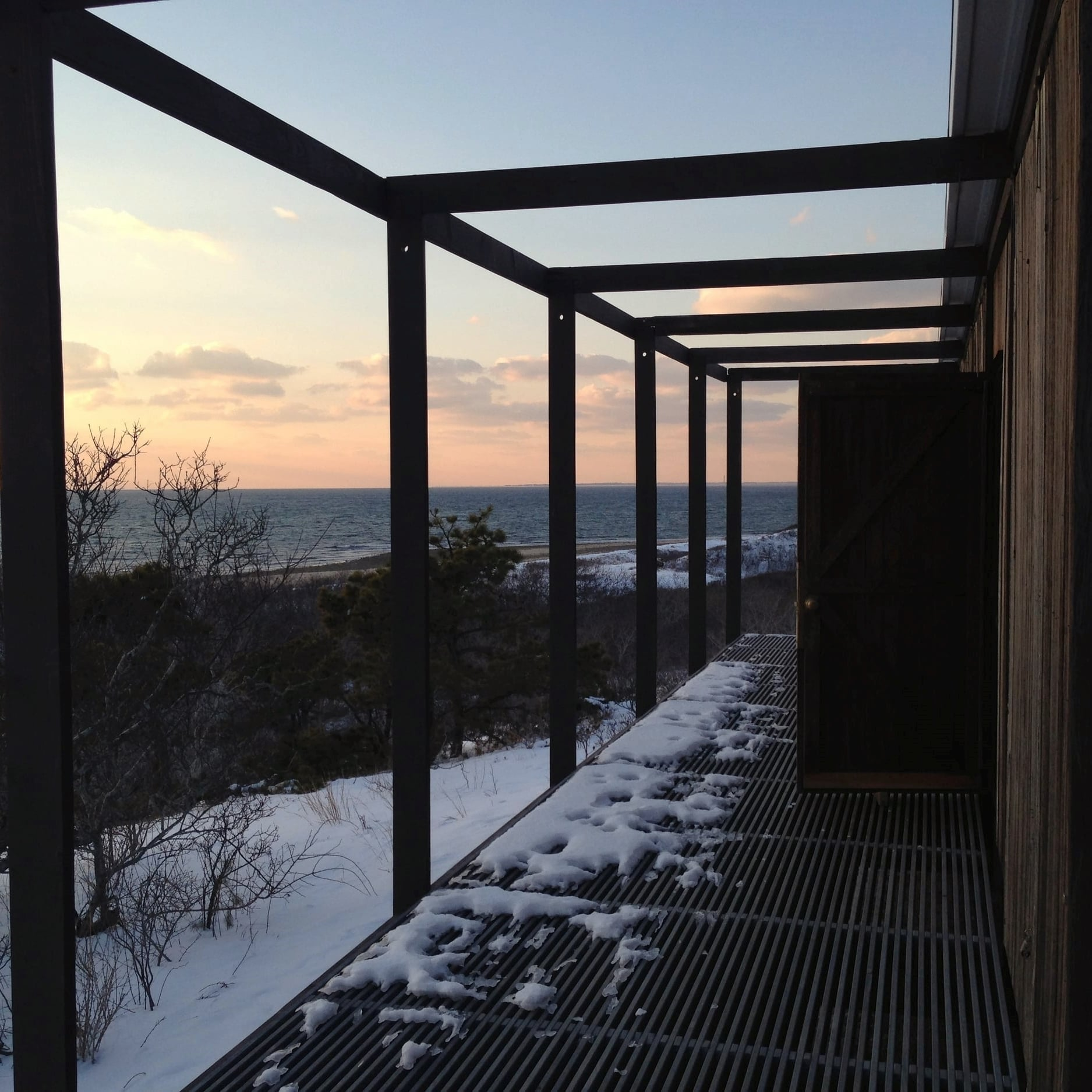 The Hatch House in winter, Cape Cod