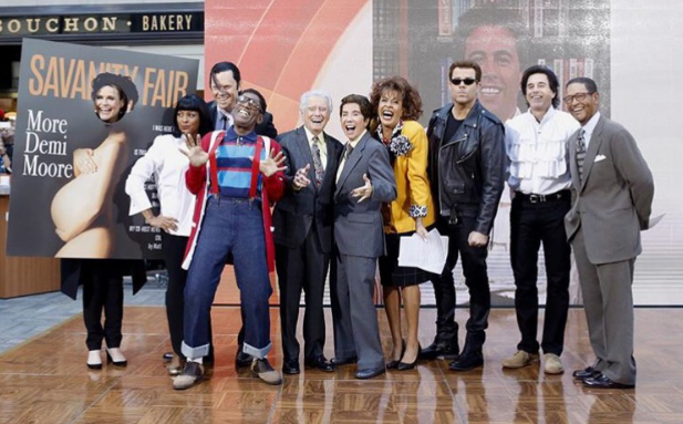 The TODAY Show did an ode to the 90's. The team dressed up from their favorite movies and television shows from back then. AL Roker was Steve Urkel from Family Matters, Savannah Guthrie posed as Demi Moore on the cover of Vanity Fair and Hoda and Kathy Lee were Regis and Kathy. Two thumbs up!