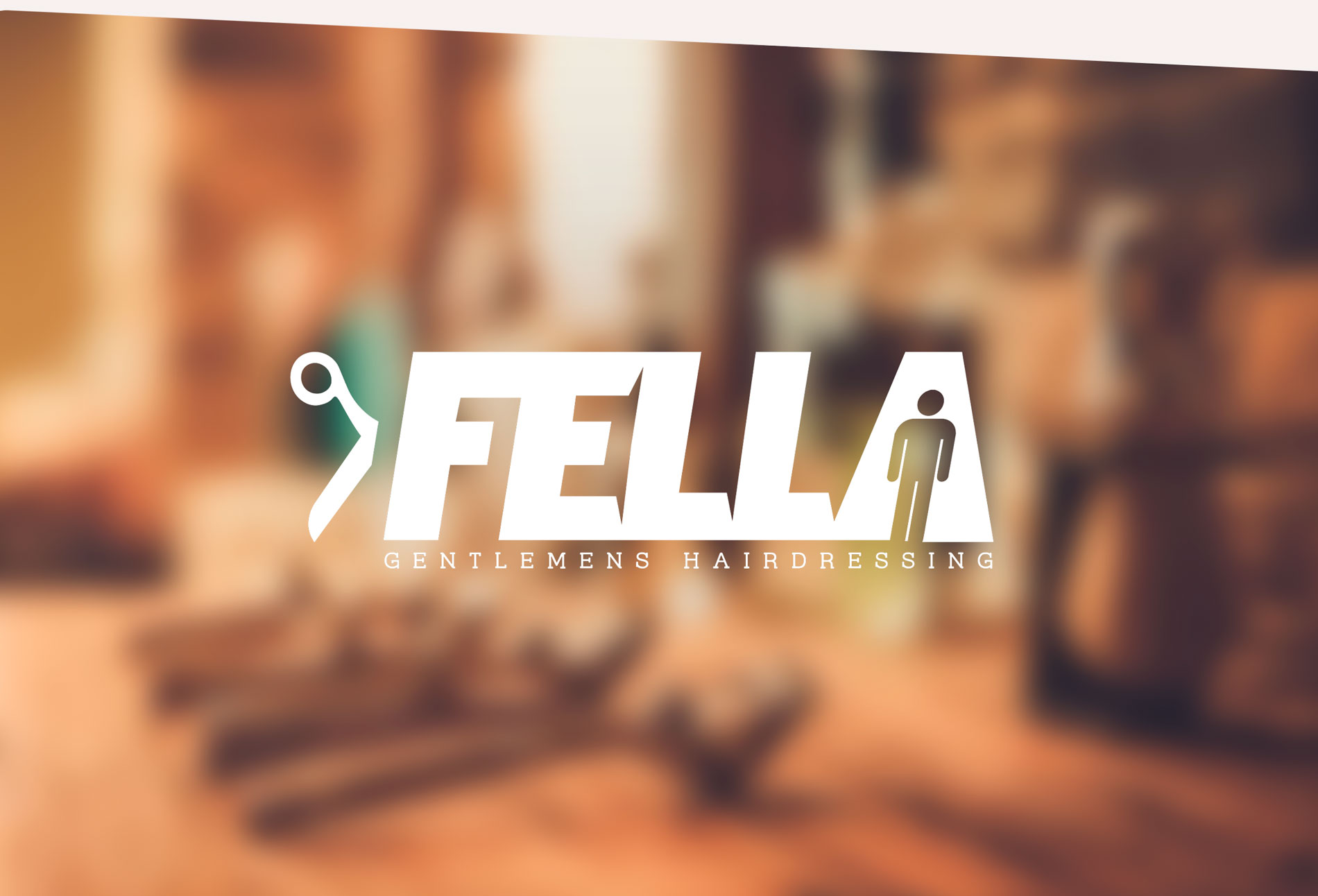 Fella Hair Canterbury logo - design whitstable kent