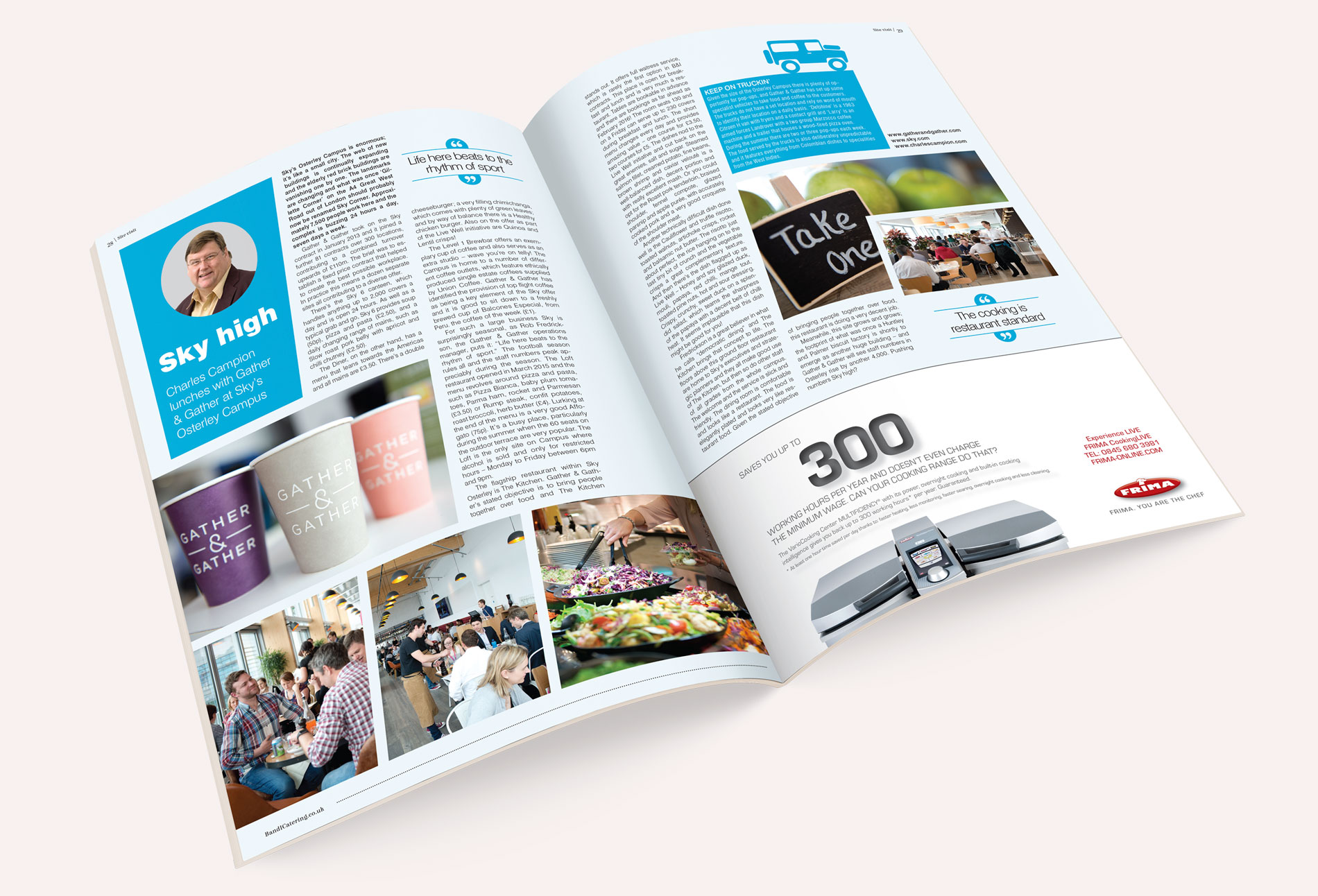Charles Campion Bandicatering B&I catering magazine spread snack attack - design whitstable kent