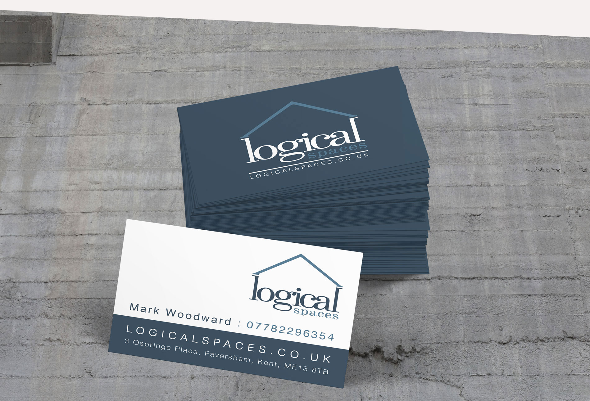 Logical Spaces business cards - design whitstable kent