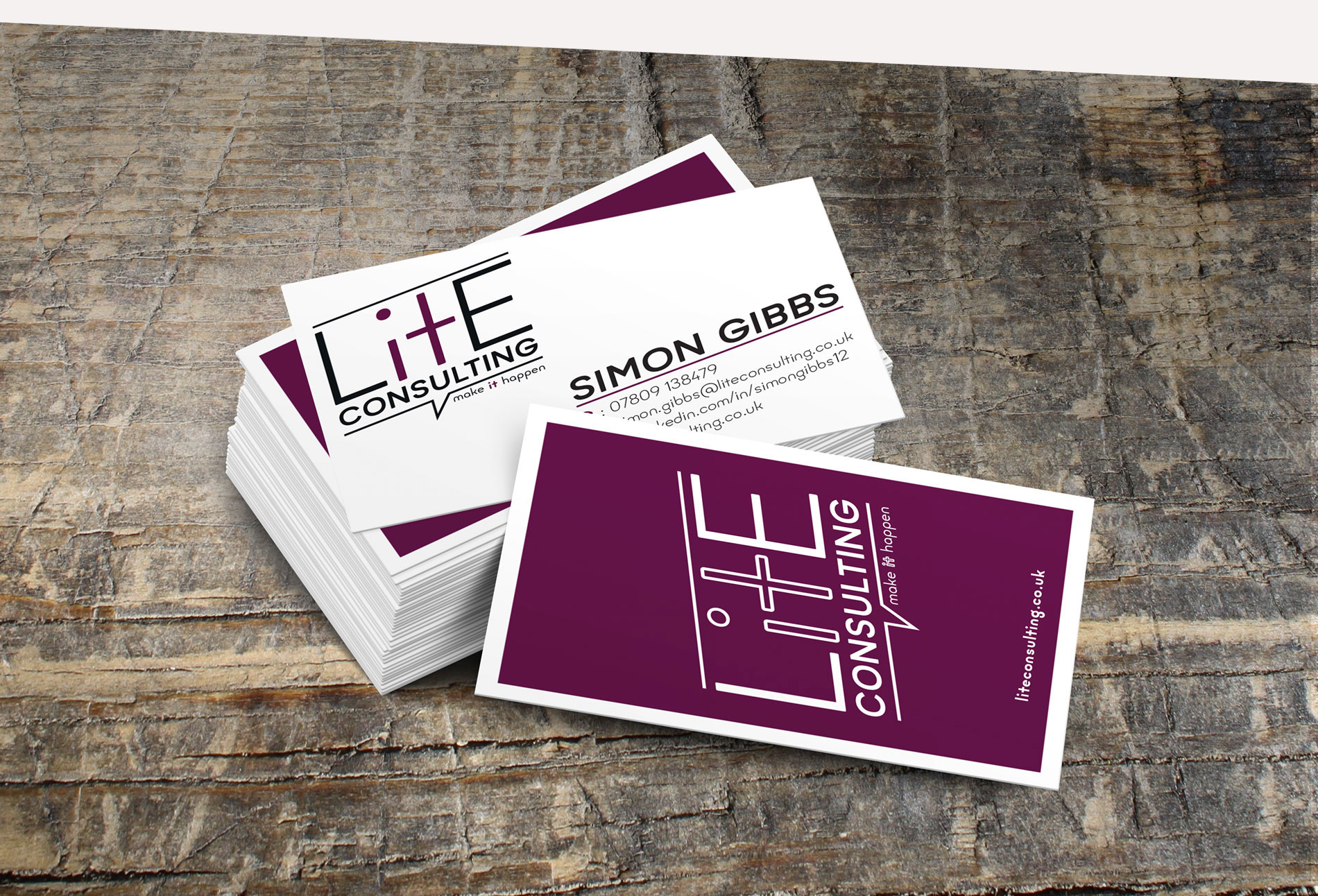 Lite Consulting Business cards - design whitstable kent