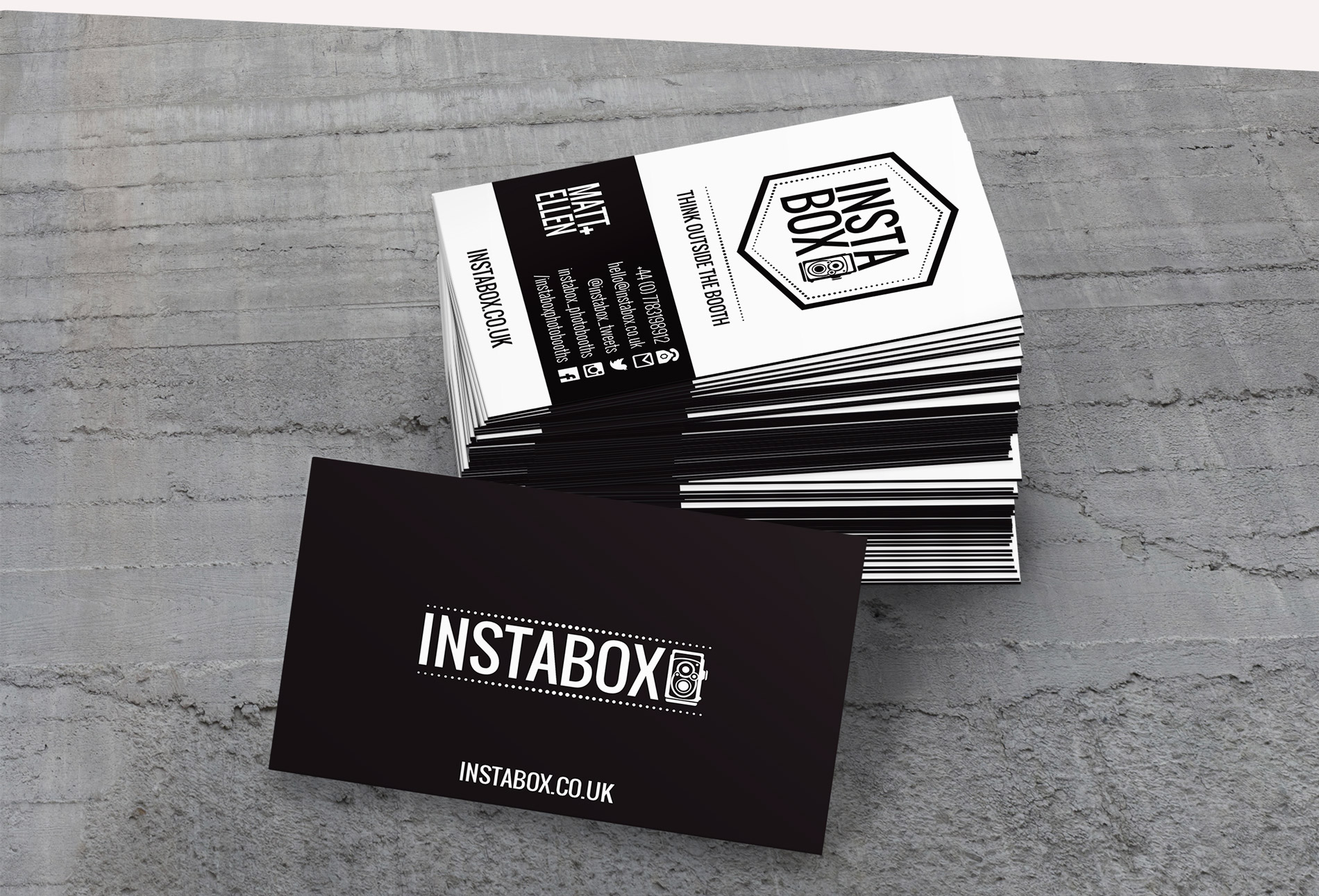 Insta Box  Business cards - design whitstable kent