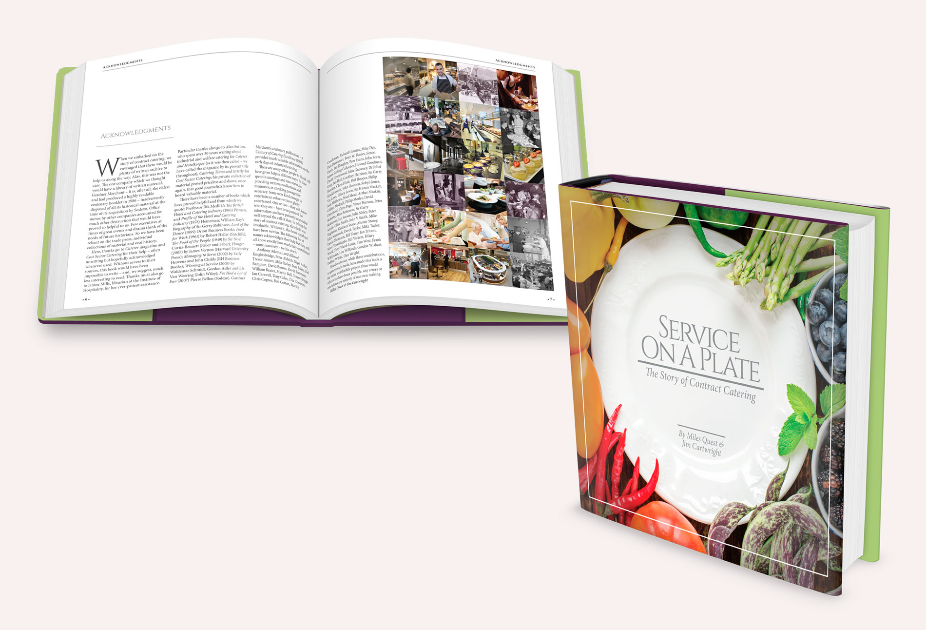 Service On A Plate - The Story of contract catering book - design whitstable kent