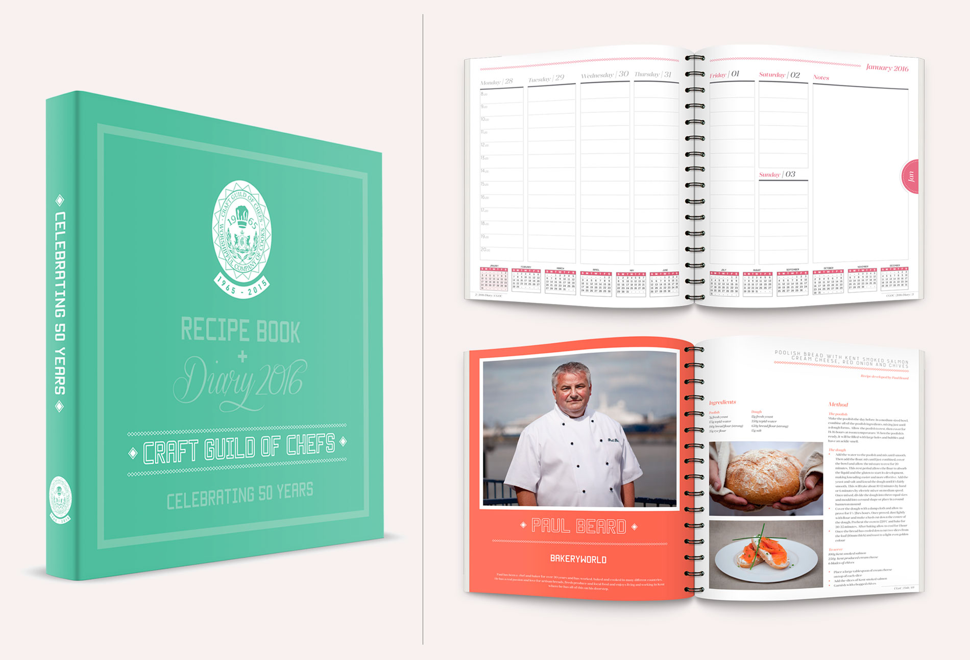 Craft Guild of Chefs Recipe book & Diary 2016