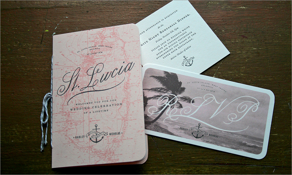 St. Lucia Wedding Branding