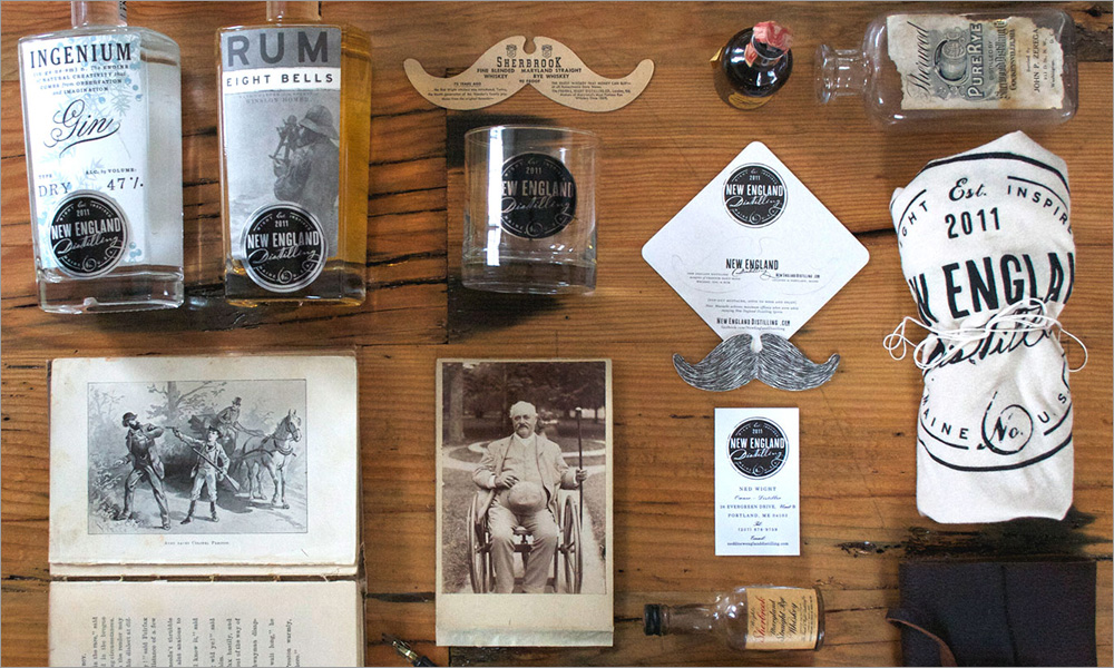 Murphy Empire Design New England Distilling Branding Board