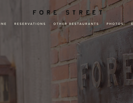 Fore Street Restaurant
