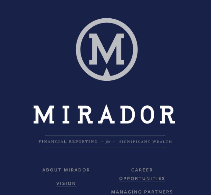 Mirador Financial Reporting
