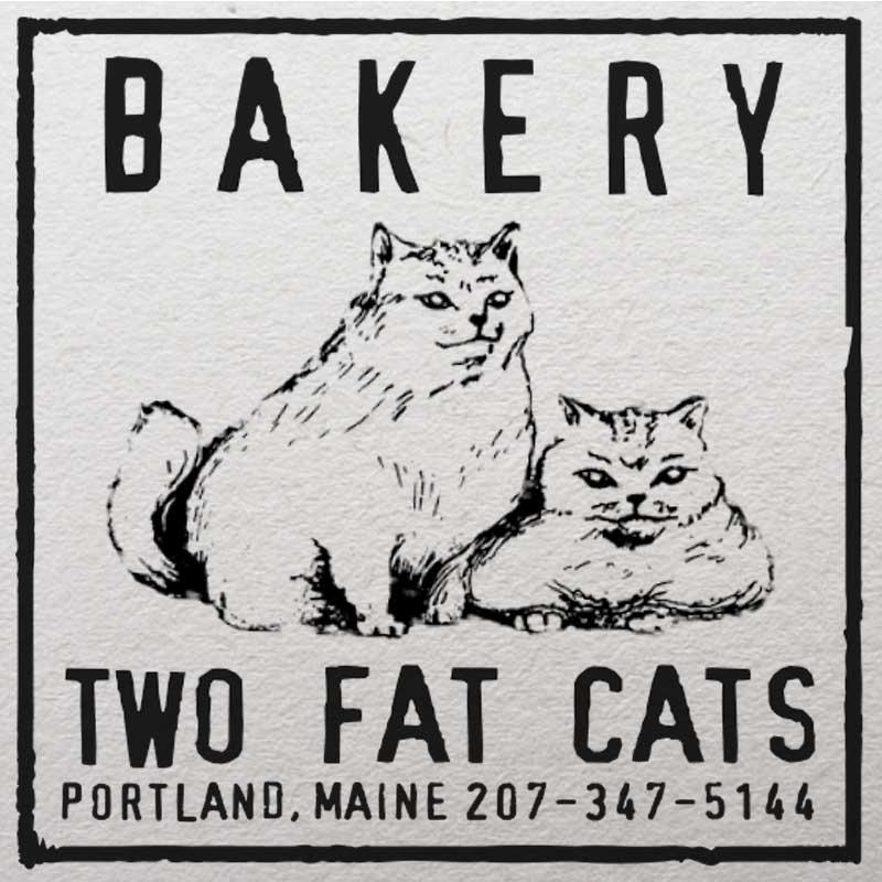 Two Fat Cats Bakery Logo