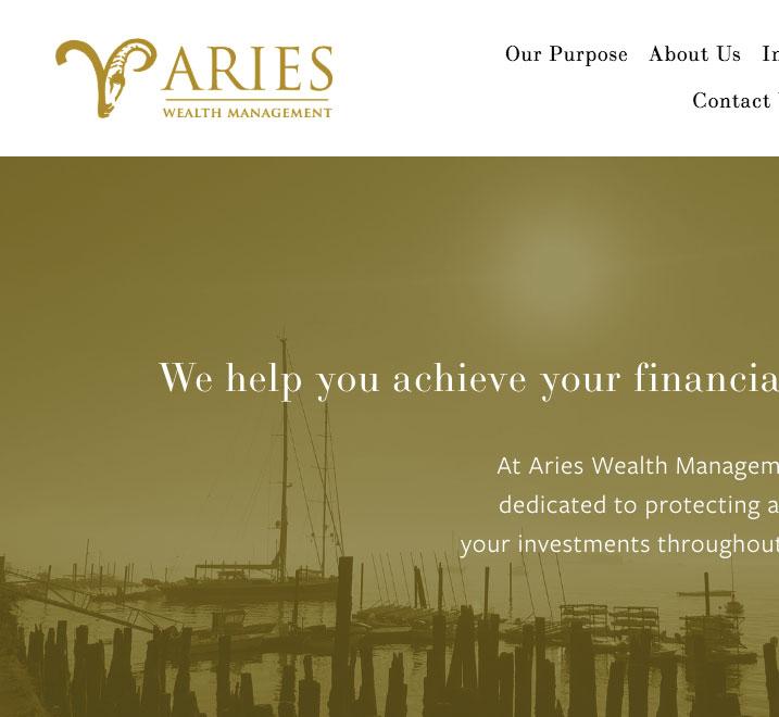 Aries Wealth Management Branding and Website Design