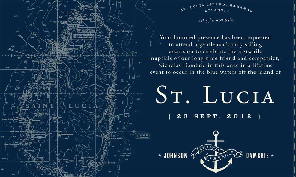 St. Lucia Wedding Invitation Branding