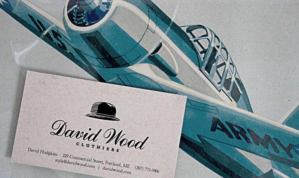 David Wood Clothiers Print Branding