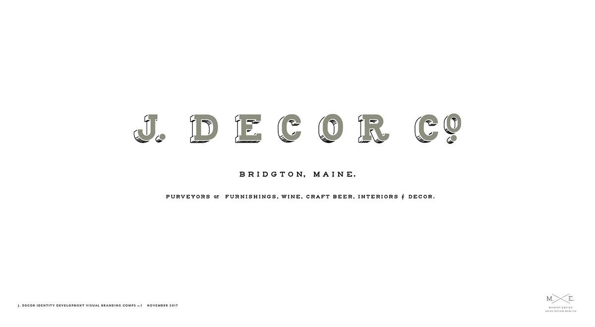 J. Decor Branding and Identity Development