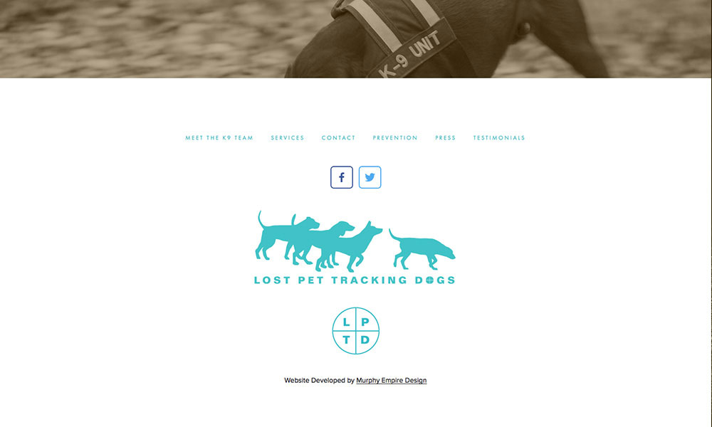 Lost Pet Tracking Co. Branding and Website Design