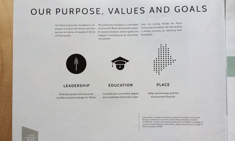 Maine Community Foundation Print Branding