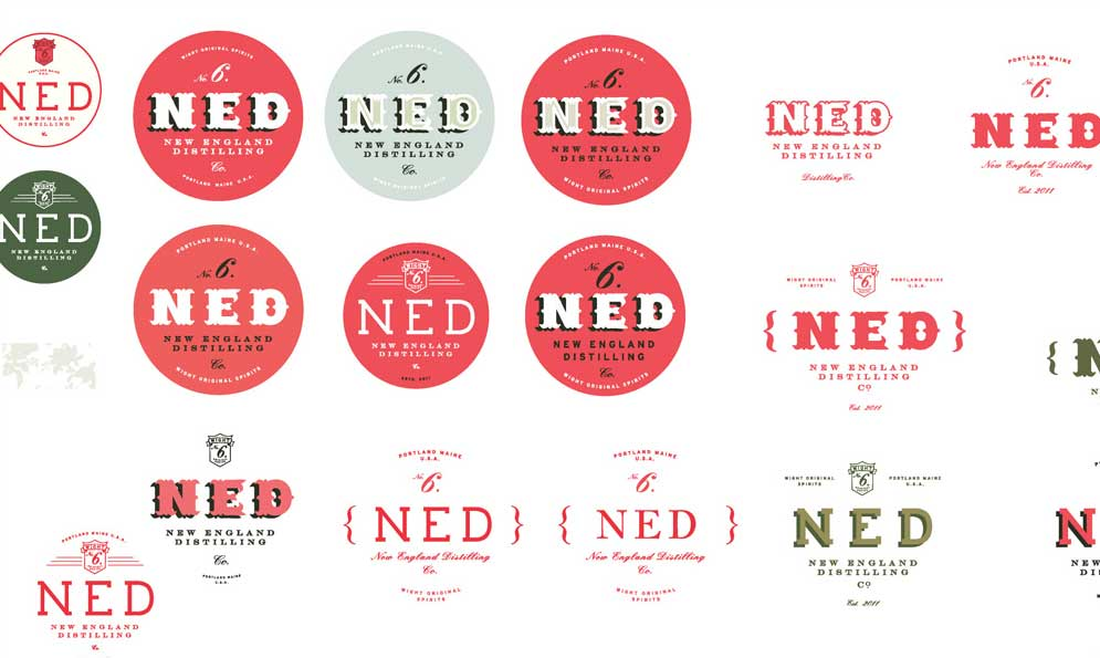 New England Distilling Branding and Identity Development