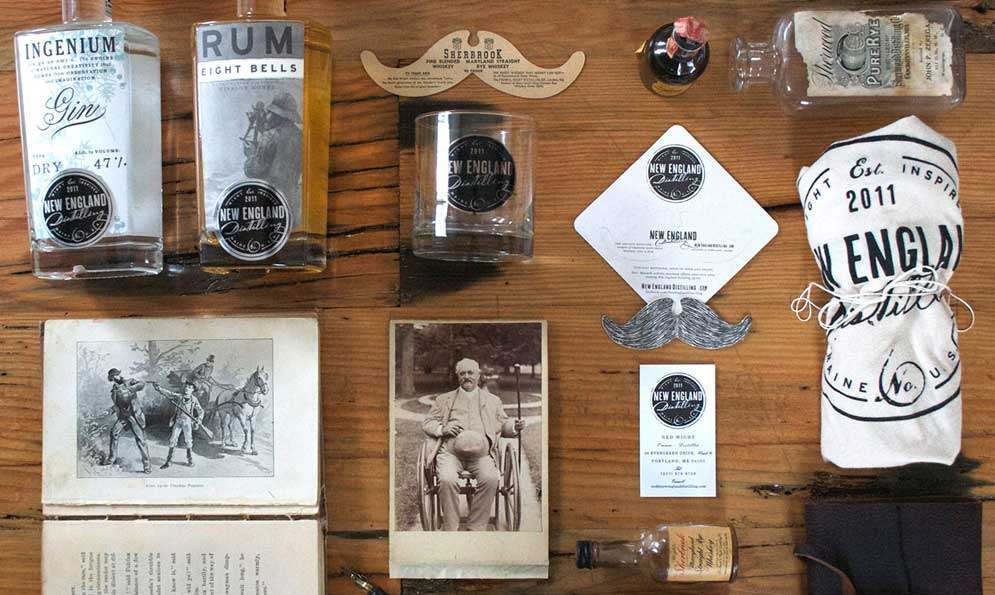 New England Distilling Branding and Package Design