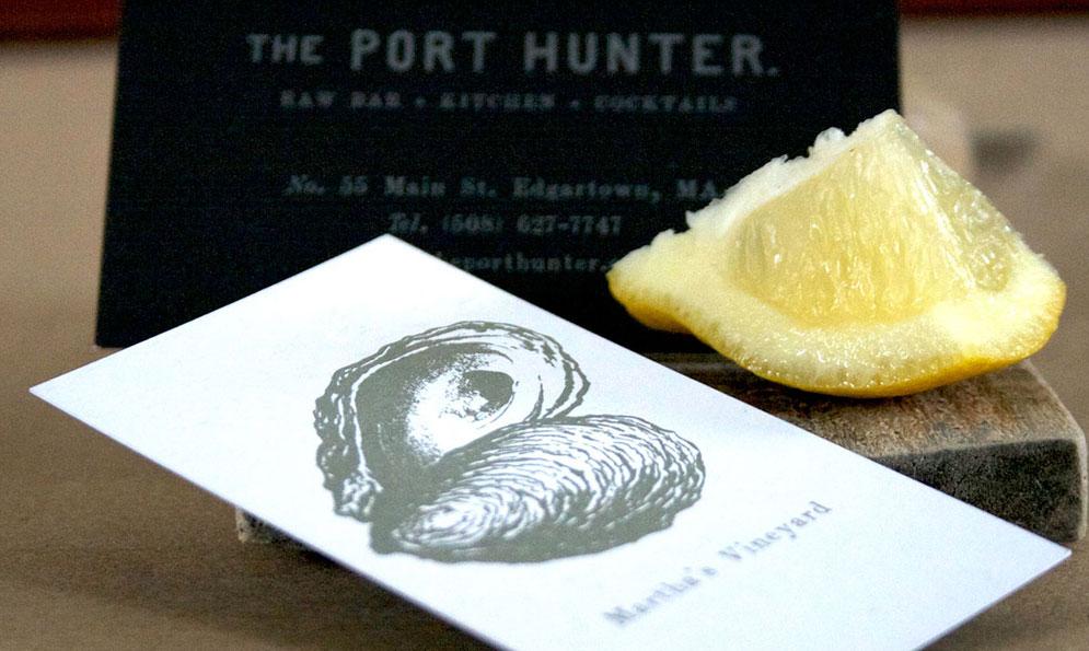 The Port Hunter Restaurant Print Branding