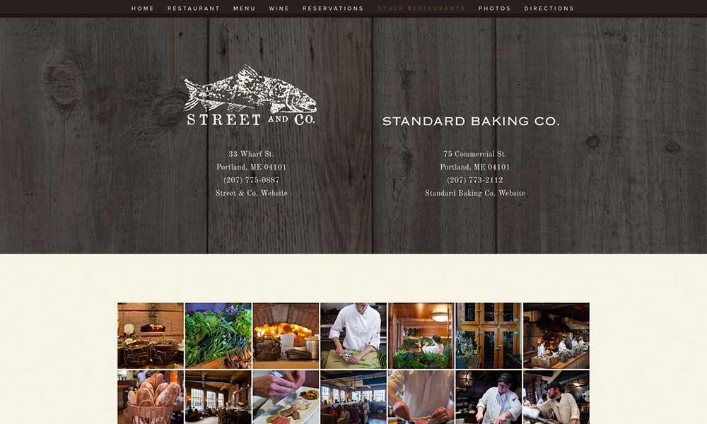Street and Company Restaurant Branding and Website Design