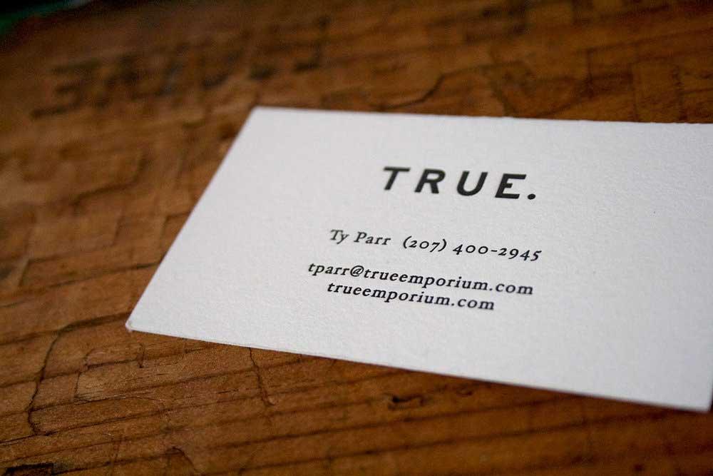 True Co. Print Branding