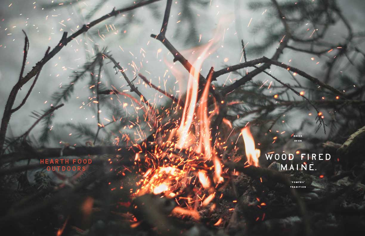 Wood-Fired Maine Branding and Identity