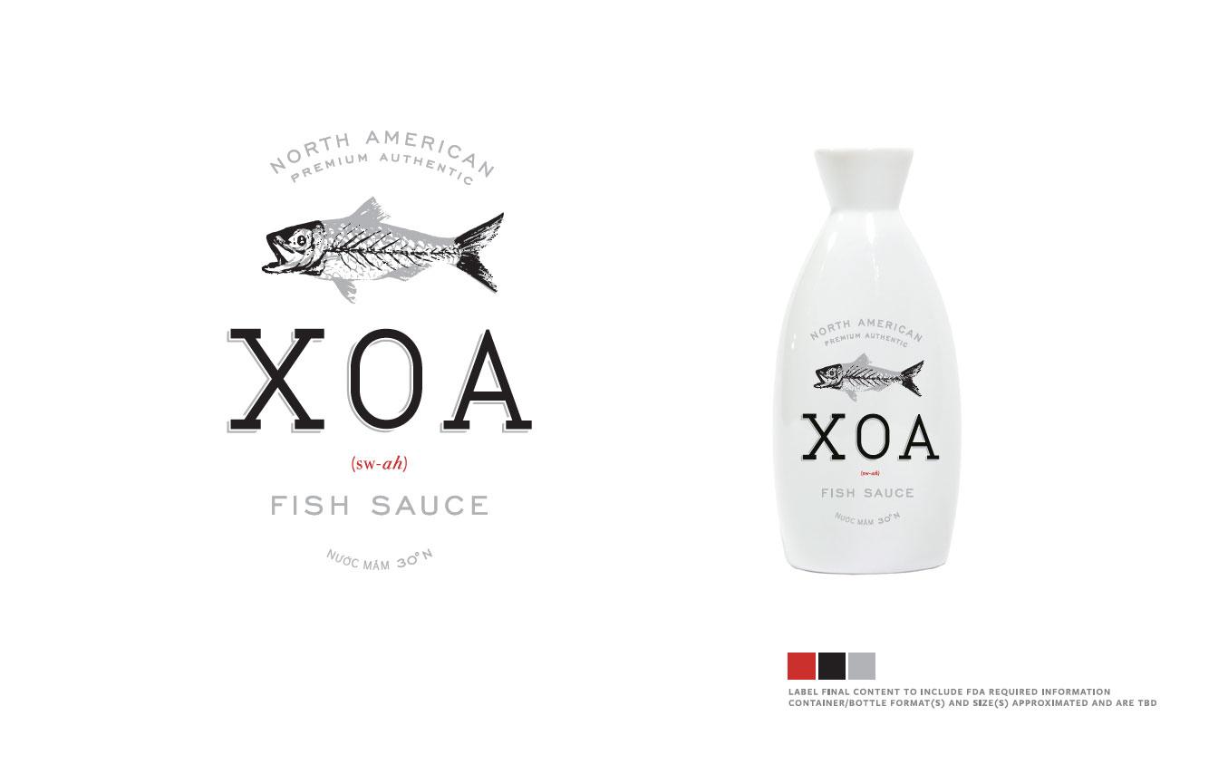 XOA Fish Sauce Branding and Identity Development