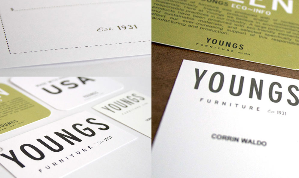 Youngs Furniture Branding and Identity
