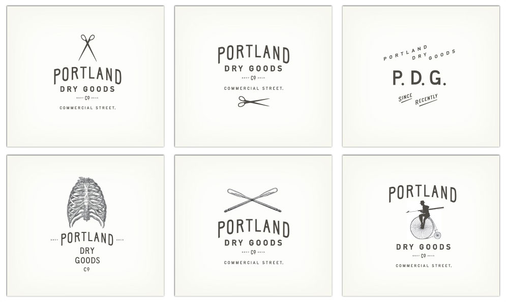 Portland Dry Goods Branding
