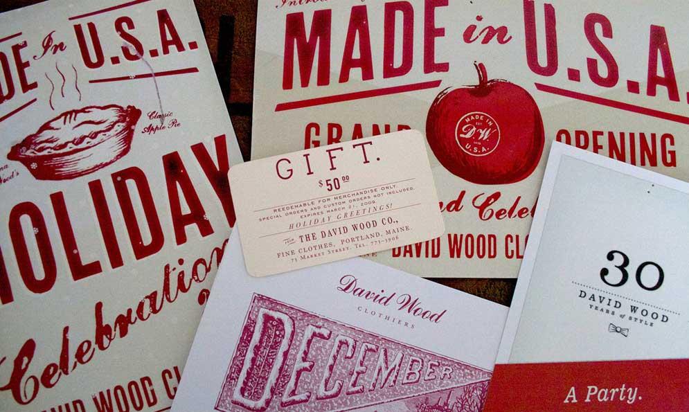 David Wood Clothiers Branding
