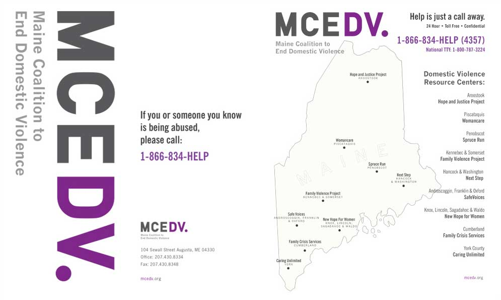 Maine Coalition to End Domestic Violence Branding