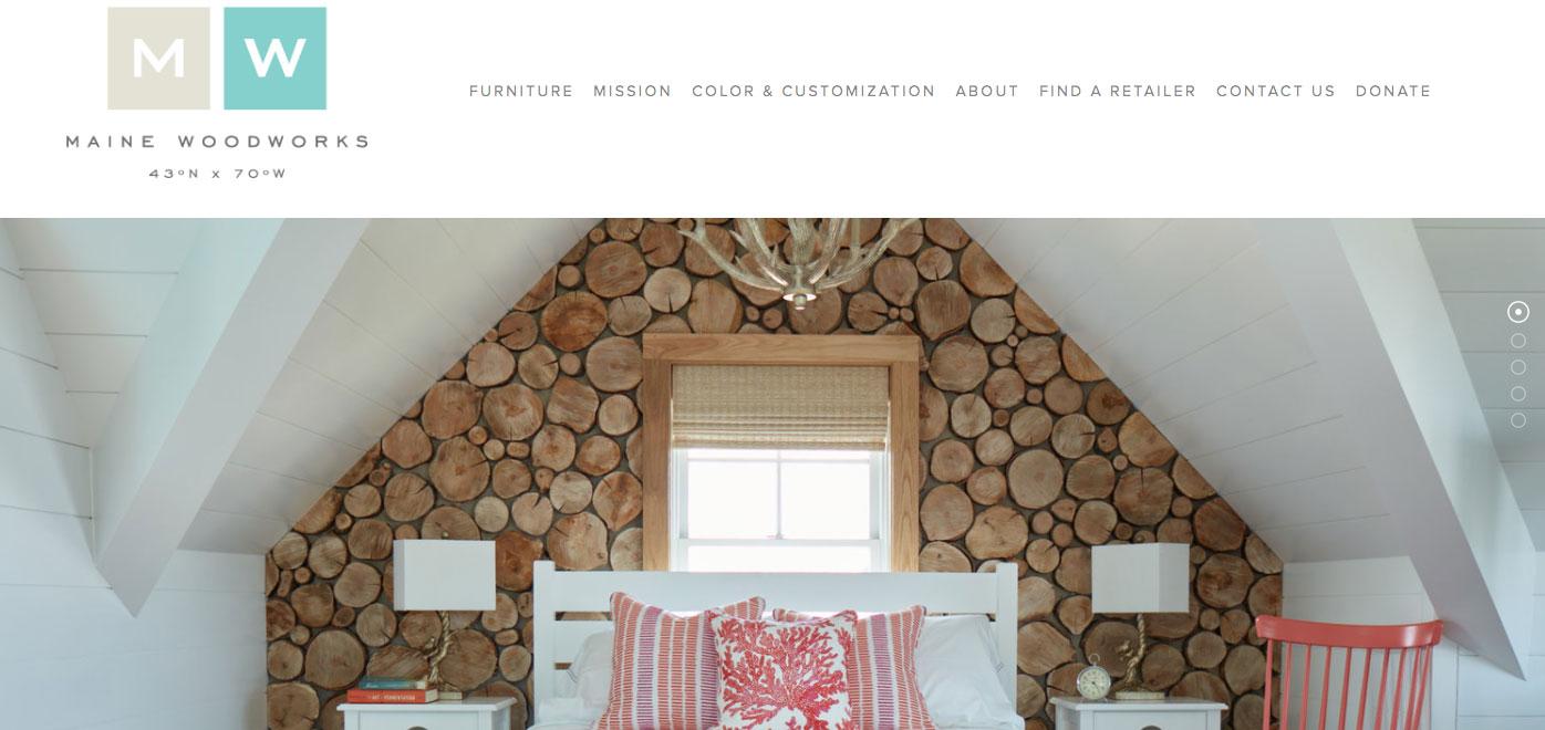 Maine Woodworks Branding and Website Design