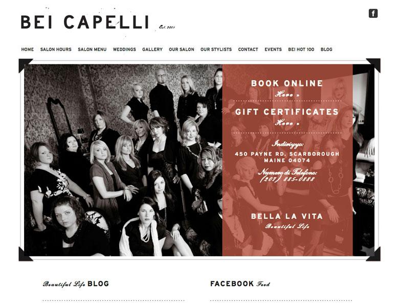 Bei Capelli Branding and Website Design
