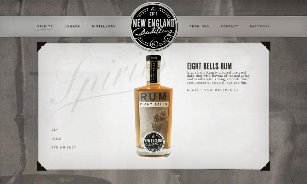 New England Distilling Branding and Website Design