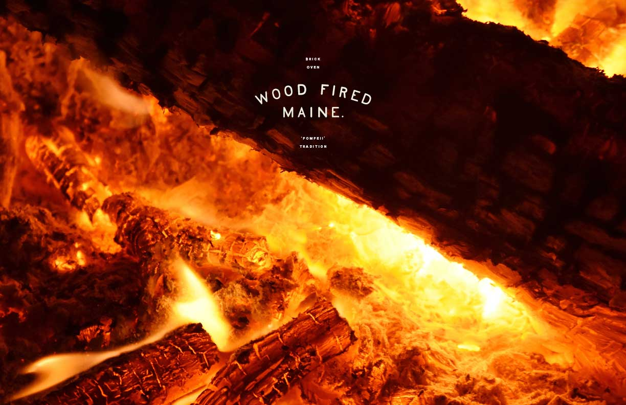 Wood-Fired Maine Branding