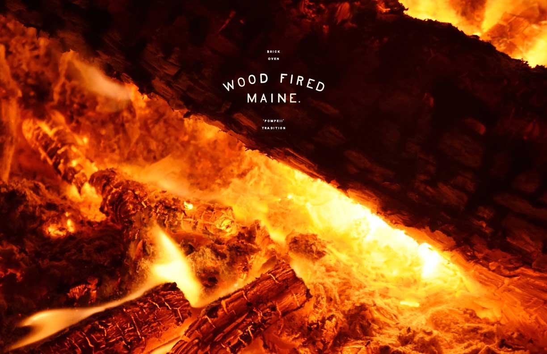 Wood-Fired Maine Branding