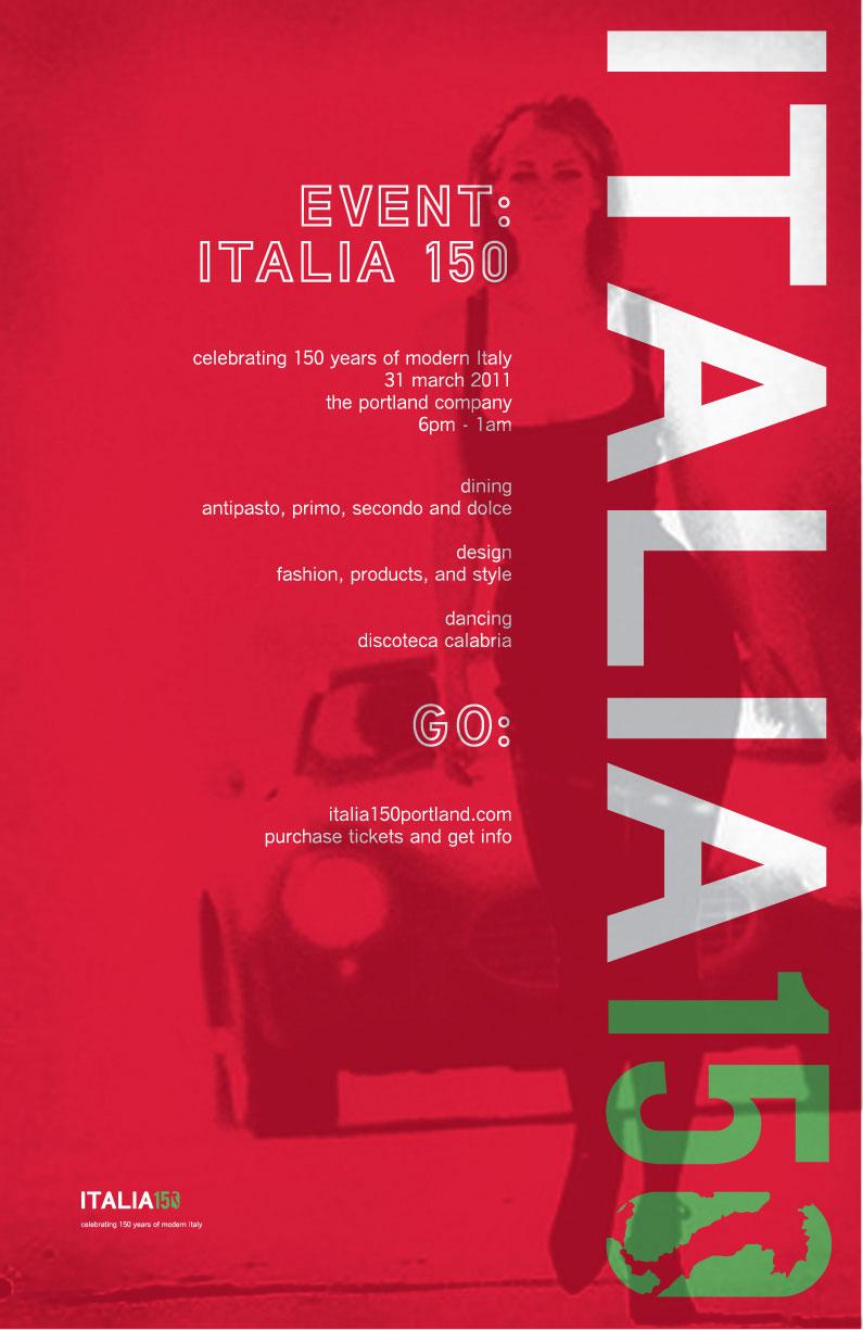 Italia 150 Event Identity and Branding