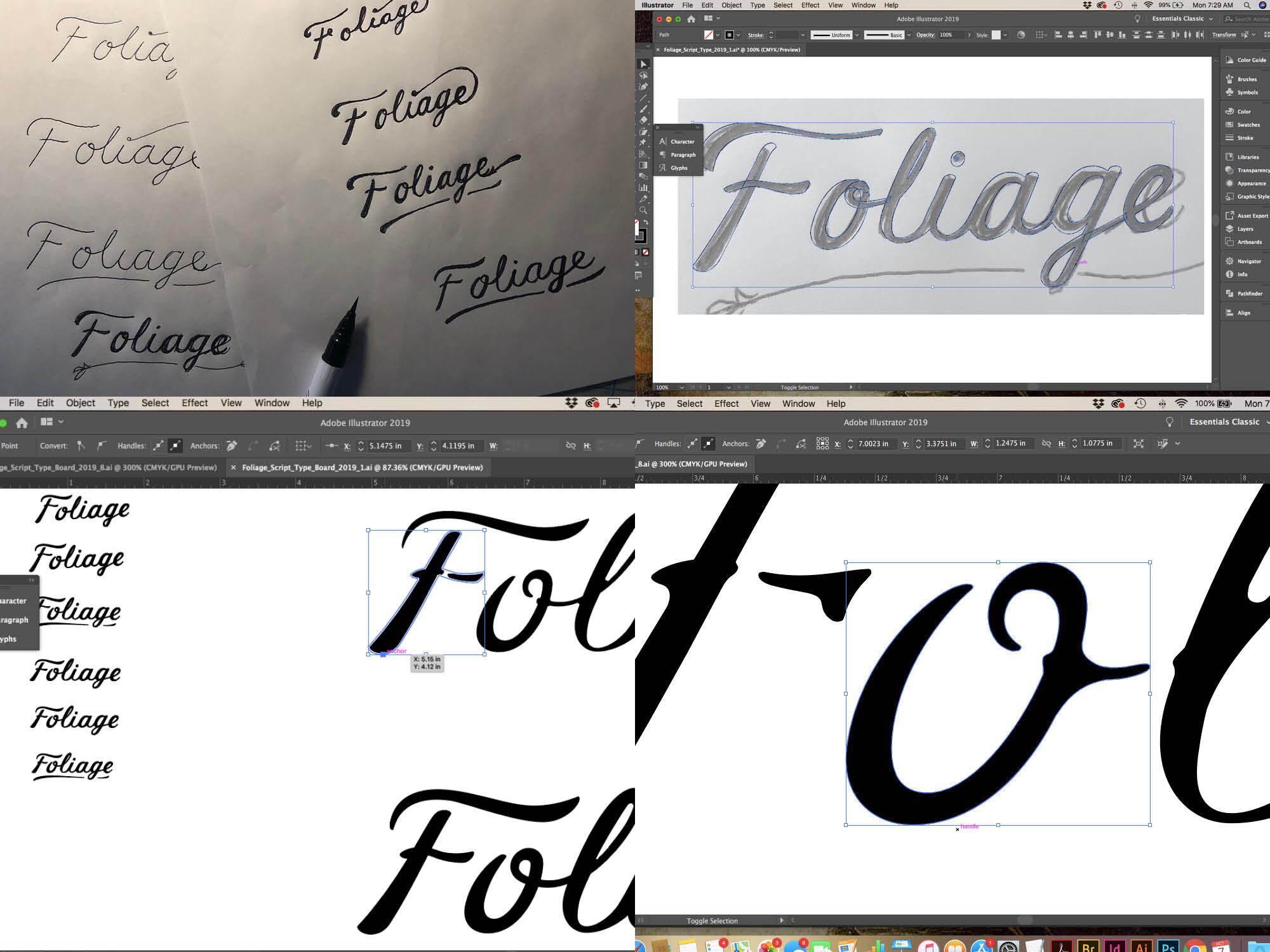 Handmade Type/Logotype Development