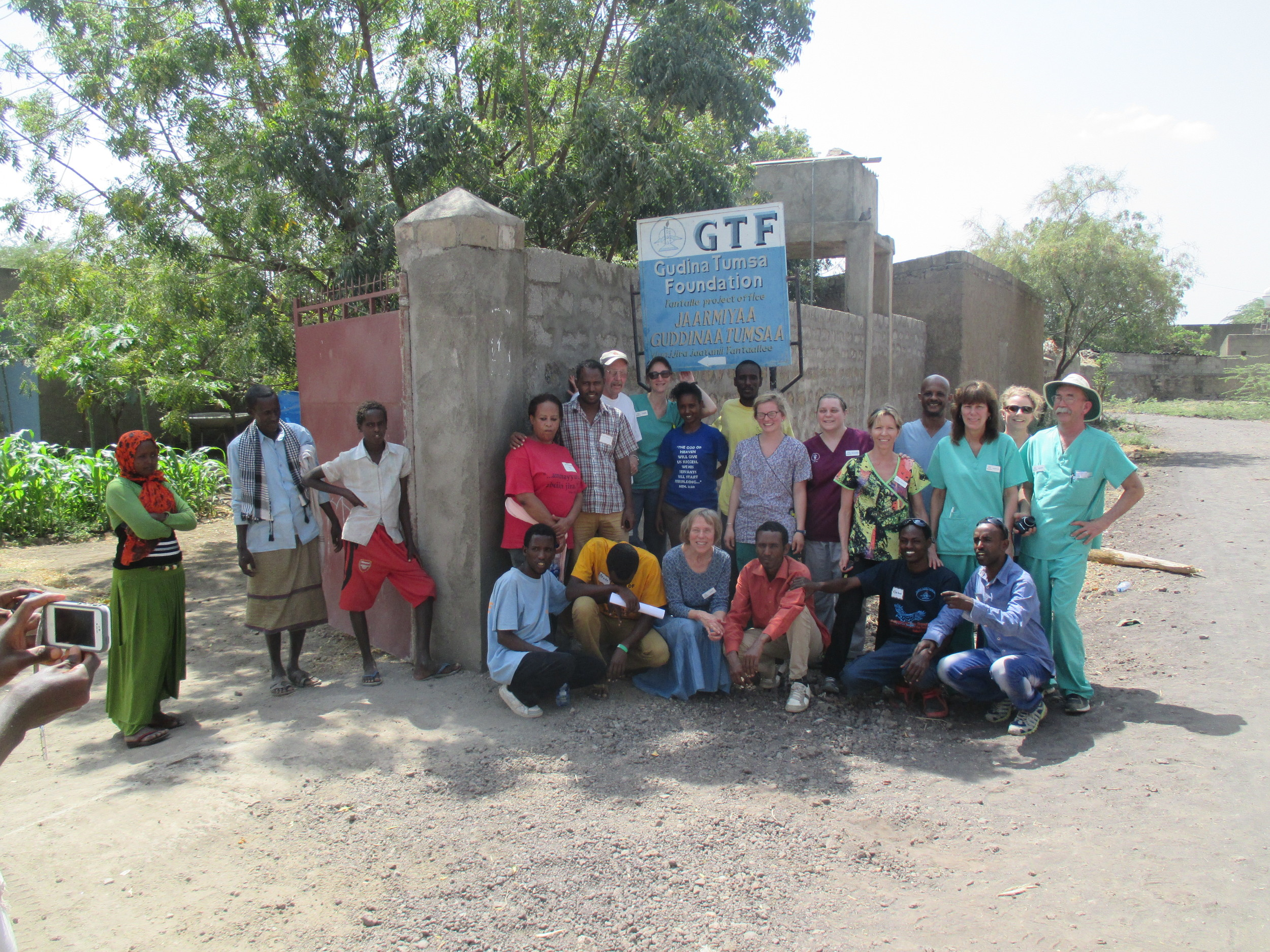 GTF-Ethiopia and GTF-US Team members at the GTF Metahara location