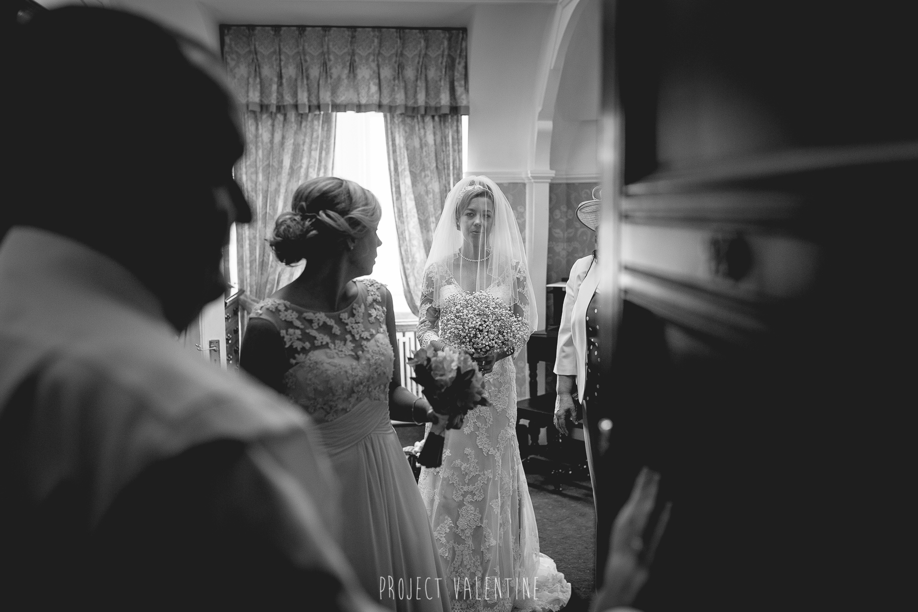 bride about to leave her room