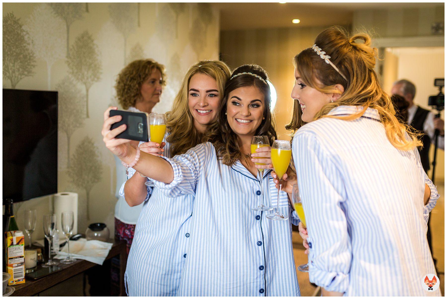 brides taking a selfie