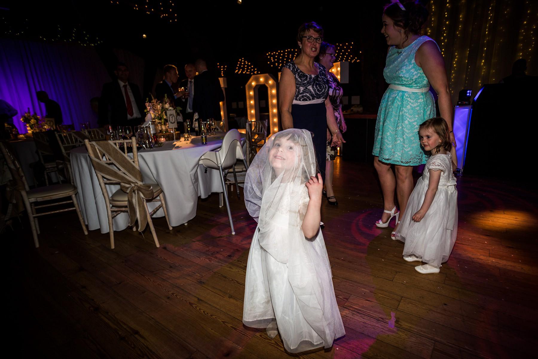 girl playing on dance floor
