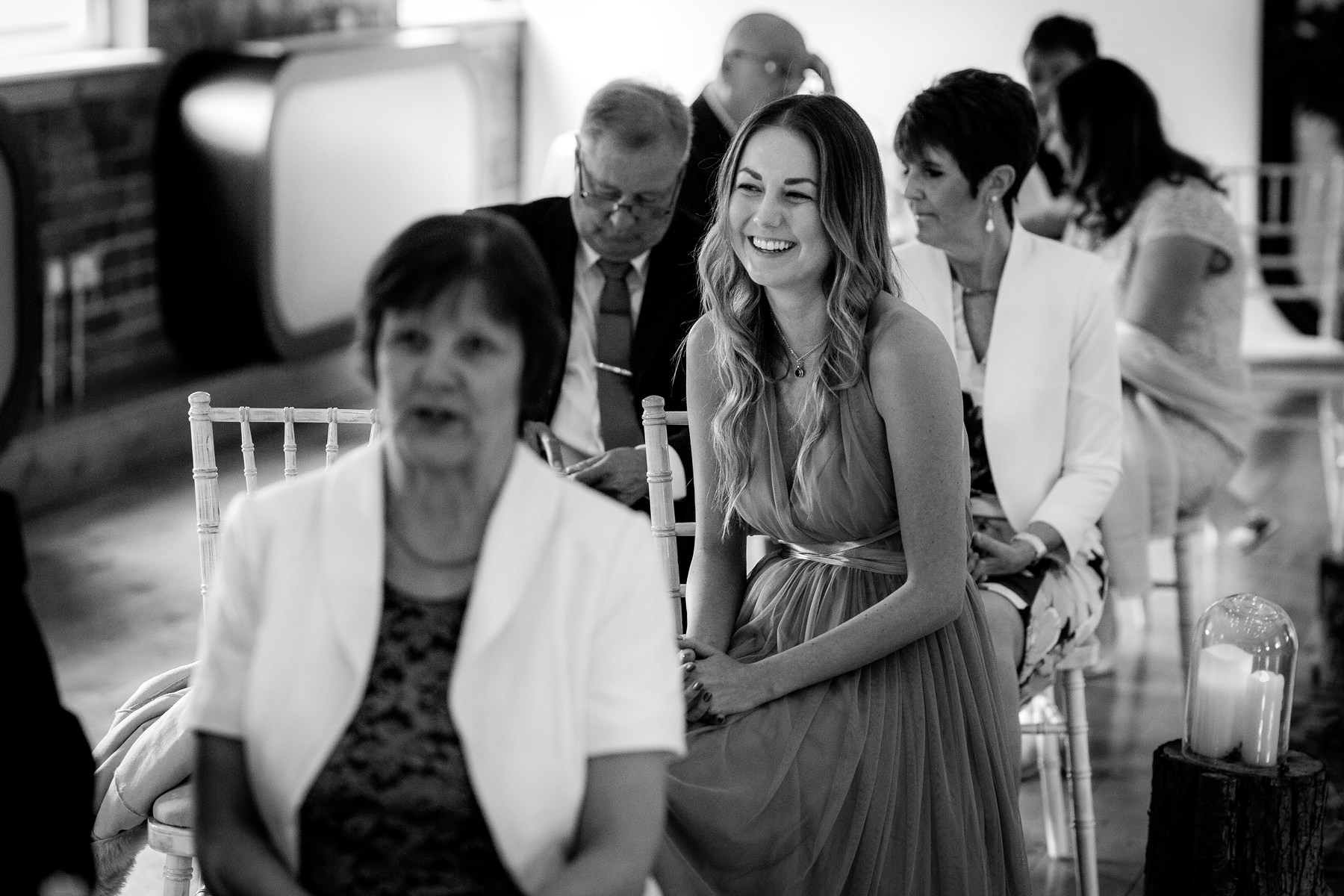guests smiling before the service
